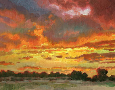 Impressionistic Landscape Painting - Touch Of Gold by Kevin  McCain