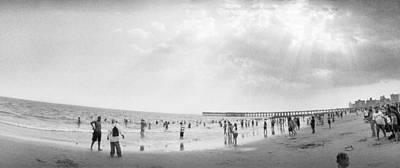 Enjoyment Photograph - Tourists On The Beach, Coney Island by Panoramic Images