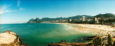 Ipanema Beach Photograph - Tourists On The Beach, Ipanema Beach by Panoramic Images
