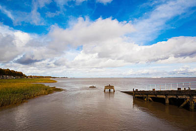 Town Pier On The Gironde River Print by Panoramic Images