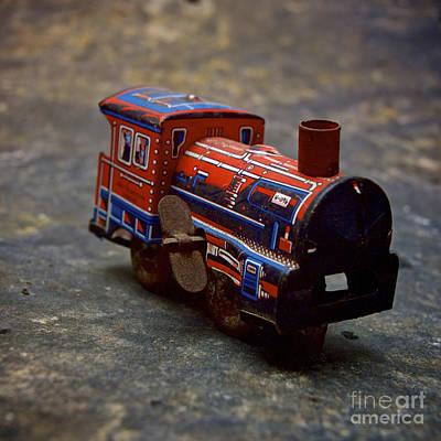 Miniature Effect Photograph - Toy Train. by Bernard Jaubert