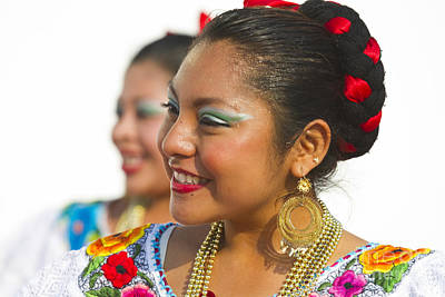 Lively Photograph - Traditional Ethnic Dancers In Chiapas Mexico by David Smith
