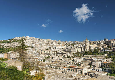 Traditional Houses Of Modica In Sicily Italy Print by Jacek Malipan