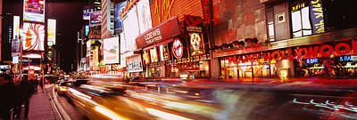 Times Square Photograph - Traffic On The Road, Times Square by Panoramic Images