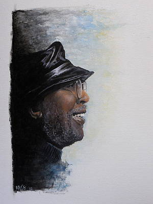 Rock Stars Painting - Train A Coming - Curtis Mayfield by William Walts