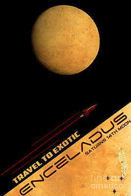 Moon Digital Art - Travel To Enceladus by Cinema Photography