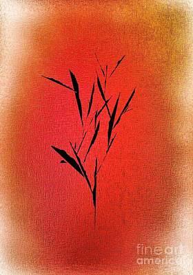 Abstract Digital Drawing - Tree by John Krakora