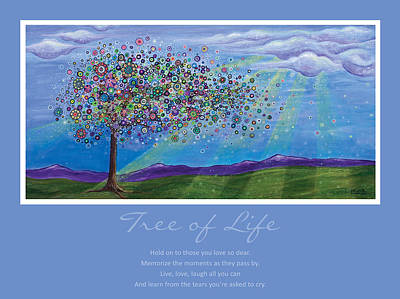Tree Of Life Print by Tanielle Childers