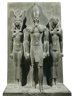 Hathor Photograph - Triad Of Menkaure Mycerinus by Everett