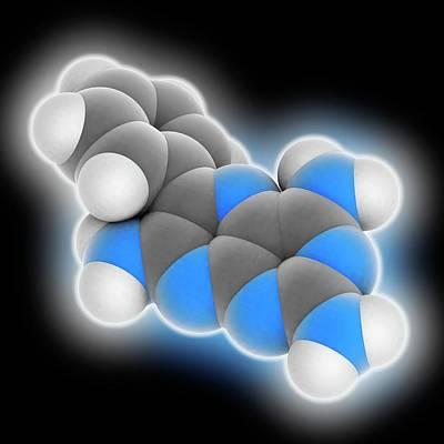 Triamterene Drug Molecule Print by Laguna Design