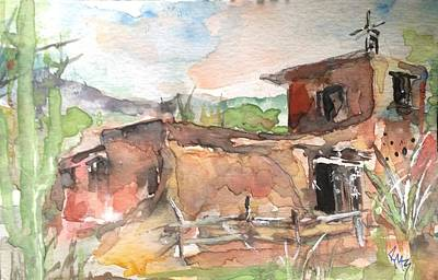 Galleries In Arizona Painting - Tribute To Degrazia by Robin Miller-Bookhout