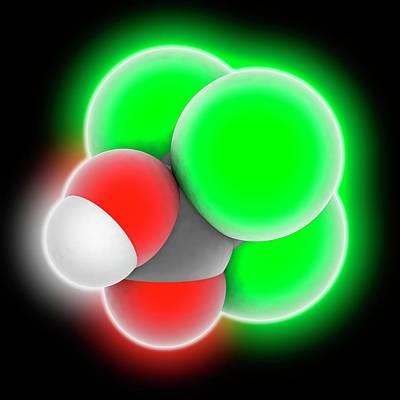 Trichloroacetic Acid Molecule Print by Laguna Design