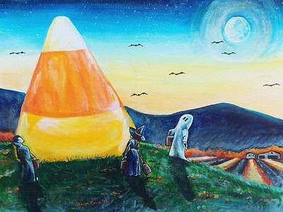 Surrealistic Painting - Trick Or Treat? by Shana Rowe Jackson