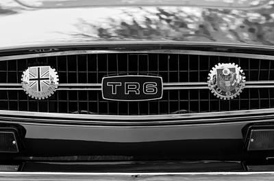 Tr Photograph - Triumph Tr 6 Grille Emblem by Jill Reger