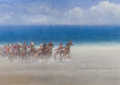 Sports Painting - Trotting Races, Lancieux, Brittany by Lincoln Seligman