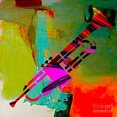Trumpet Print by Marvin Blaine