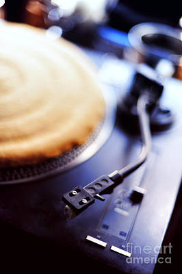 Hiphop Photograph - Turntable by HD Connelly