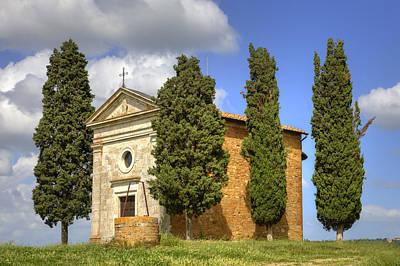 Siena Photograph - Tuscany - Cappella Di Vitaleta by Joana Kruse