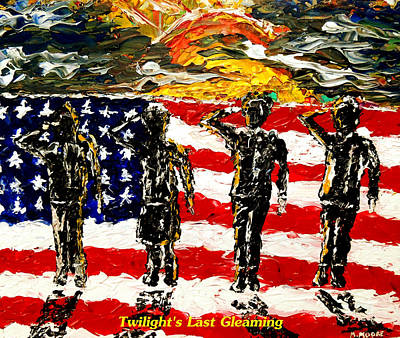 Iraq War Painting - Twilights Last Gleaming by Mark Moore