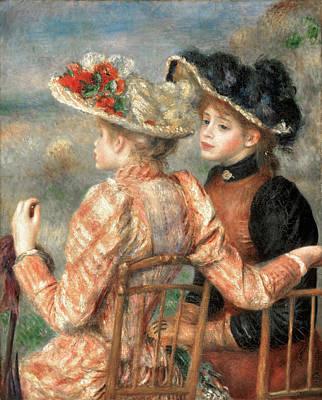 Pierre-auguste Renoir Painting - Two Girls by Pierre-Auguste Renoir