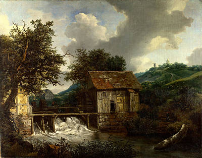 Relating Painting - Two Watermills And An Open Sluice At Singraven by Celestial Images