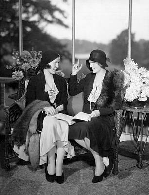 Two Women Talking Print by Underwood Archives