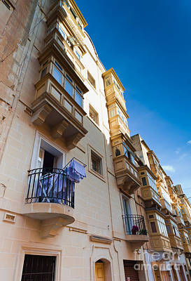 Maltese Photograph - Typical Maltese Building With Balconies by Frank Bach