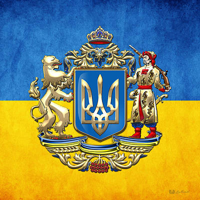 Coat Of Arms Digital Art - Ukraine - Proposed Greater Coat Of Arms by Serge Averbukh