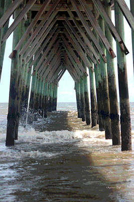 At Poster Digital Art - Under The Pier by Suzanne Gaff