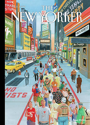 Times Square Painting - Untitled by Bruce McCall