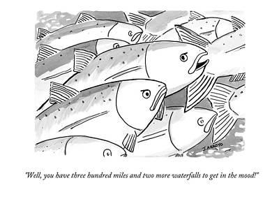 Salmon Drawing - Untitled by Jose Arroyo