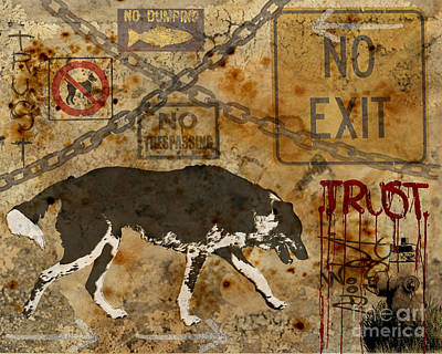 Urban Dog Print by Judy Wood