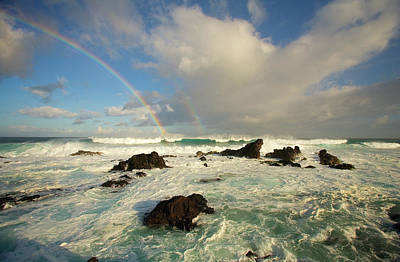 Simple Beauty In Colors Photograph - Usa, Hawaii, Rainbow Offshore by Ron Dahlquist