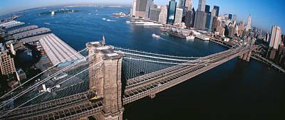 Usa, New York, Brooklyn Bridge, Aerial Print by Panoramic Images