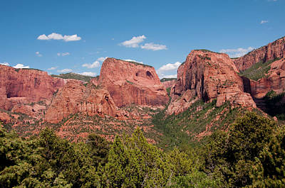 Kolob Photograph - Usa Utah, Zion National Park by Lee Foster