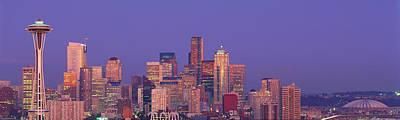 Seattle Skyline Photograph - Usa, Washington, Seattle, Cityscape by Panoramic Images