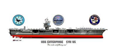 Uss Enterprise Cvn 65 2012 Original by George Bieda