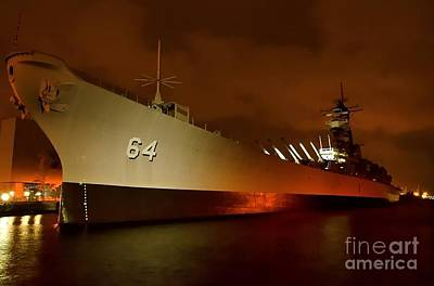 Battleship Photograph - Uss Wisconsin by Mike Baltzgar