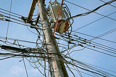 Telephone Poles Photograph - Utility Pole by Jim West