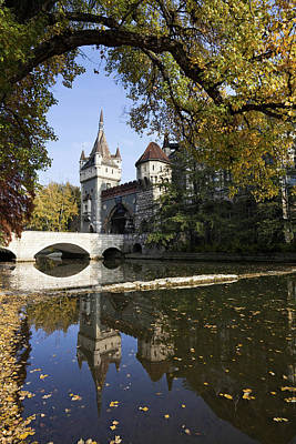 Moat Photograph - Vajdahunyad Castle In Budapest by Martin Zwick