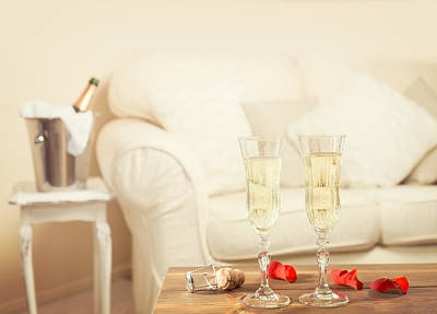 Celebrate Photograph - Valentines Day Champagne by Amanda Elwell