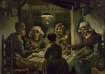 1890 Houses Painting - Van Gogh Potato Eaters by Granger