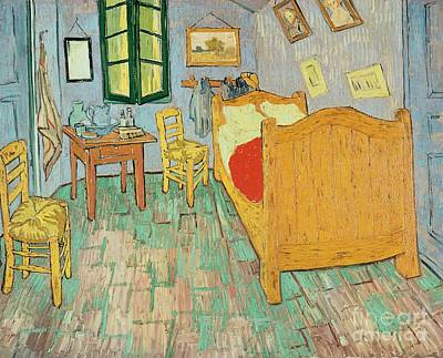 Bed Painting - Van Goghs Bedroom At Arles by Vincent Van Gogh