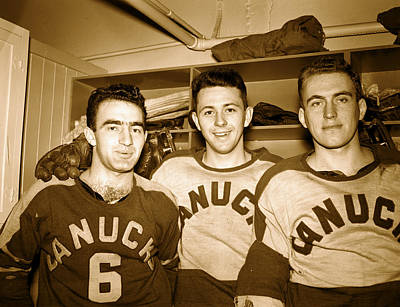Canadian Sports Photograph - Vancouver Canucks - 1960 by Mountain Dreams