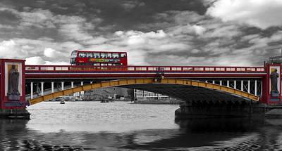Vauxhall Bridge Thames London Print by David French
