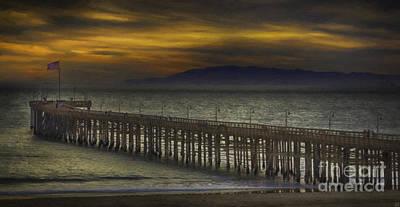 Seascape Painting - Ventura Pier by David Millenheft