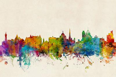 British Digital Art - Victoria Canada Skyline by Michael Tompsett