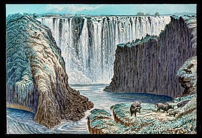 Victoria Falls Buffalo Print by Gustoimages/science Photo Libbrary