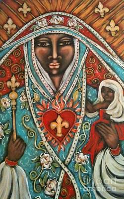 Painting - Vierge Noire De Paris by Maya Telford