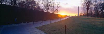 Vietnam War Memorial Photograph - Vietnam Veterans Memorial At Sunrise by Panoramic Images